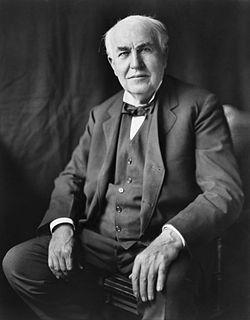トーマス・エジソンの名言 I am not discouraged,…